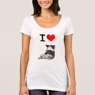 Camiseta Eu amo bumbuns do Corgi