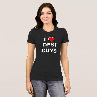Camiseta Eu amo caras de Desi