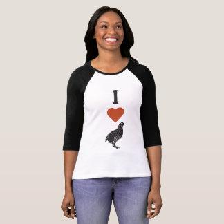 Camiseta Eu amo codorniz