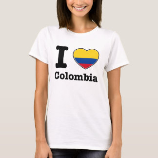 Camiseta Eu amo Colômbia