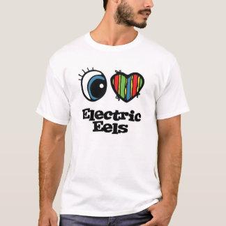 Camiseta Eu amo (coração) enguias elétricas