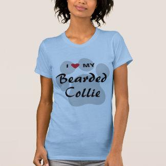 Camiseta Eu amo (coração) meu Collie farpado Pawprint