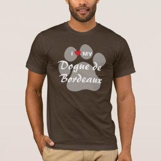 Camiseta Eu amo (coração) meu Dogue de Bordéus