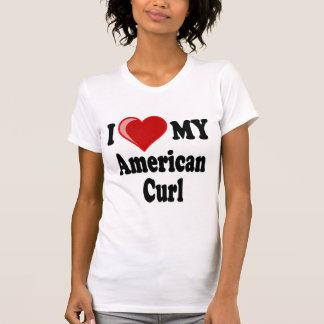 Camiseta Eu amo (coração) meu gato americano da onda