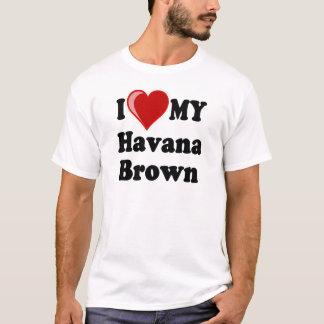 Camiseta Eu amo (coração) meu gato de Havana Brown