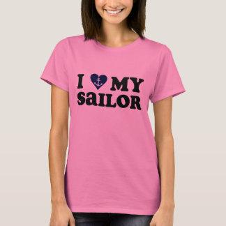 Camiseta Eu amo (coração) meu t-shirt do marinheiro