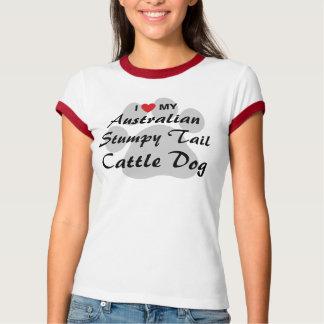 Camiseta Eu amo (coração) minha cauda Stumpy australiana