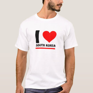 Camiseta Eu amo Coreia do Sul