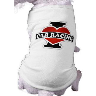 Camiseta Eu amo corridas de carros