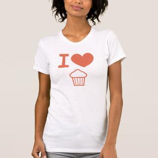 Camiseta Eu amo cupcakes