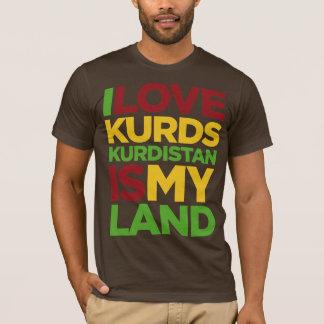 Camiseta Eu amo Curdos & Curdistão