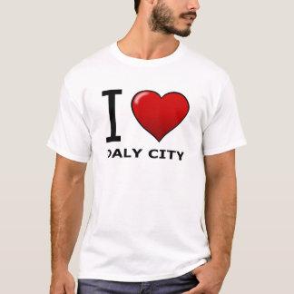 CAMISETA EU AMO DALY CITY, CA - CALIFÓRNIA