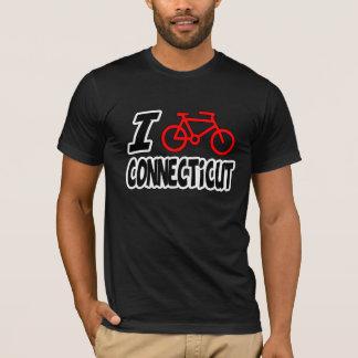 Camiseta Eu amo dar um ciclo Connecticut