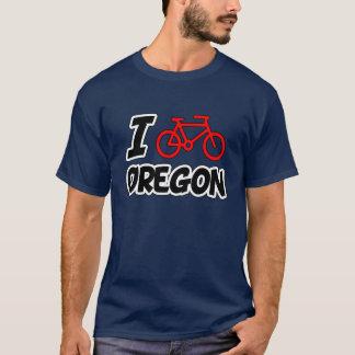 Camiseta Eu amo dar um ciclo Oregon