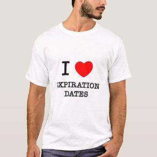 Camiseta Eu amo datas de validade