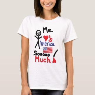Camiseta Eu amo desenhos animados de América