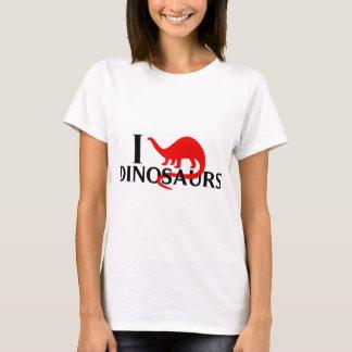 Camiseta Eu amo dinossauros