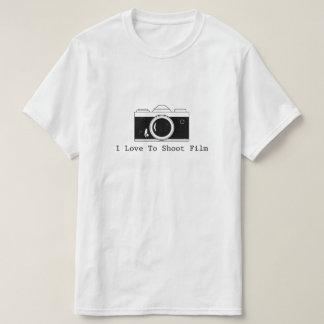 Camiseta Eu amo disparar no filme