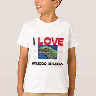 Camiseta Eu amo dragões de Komodo