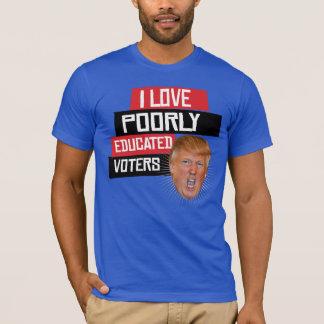 Camiseta Eu amo eleitores mal educados - diz Donald Trump