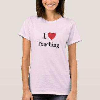 Camiseta Eu amo ensinar o ensino amo-me professor fêmea