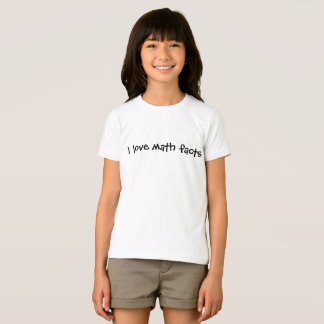 Camiseta Eu amo fatos da matemática