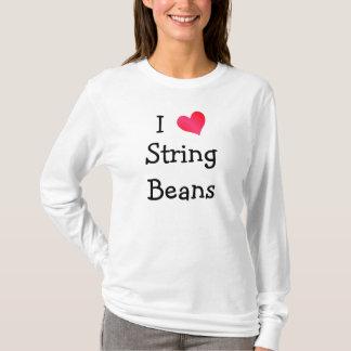 Camiseta Eu amo feijões de corda