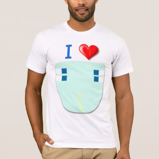 Camiseta Eu amo fraldas/fraldas 4 vidas/bebês 4 Life/ABDL