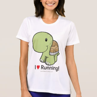 Camiseta Eu amo funcionar - tartaruga