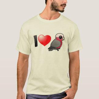 Camiseta Eu amo Galahs (a crista para baixo)