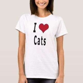 Camiseta Eu amo gatos