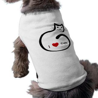 Camiseta Eu amo gatos!
