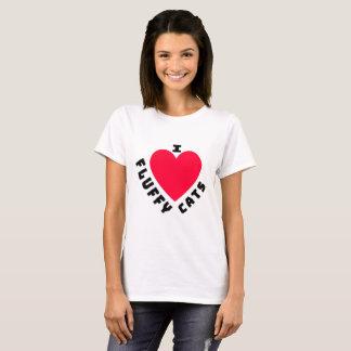 Camiseta Eu amo gatos macios (2)