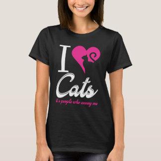 Camiseta Eu amo gatos, suas pessoas que me irrita!
