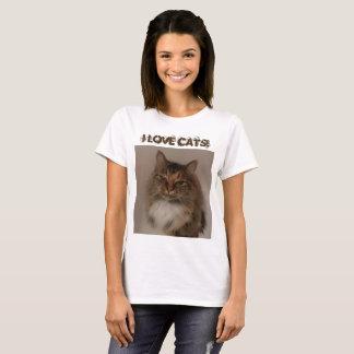 Camiseta Eu amo gatos! T-shirt
