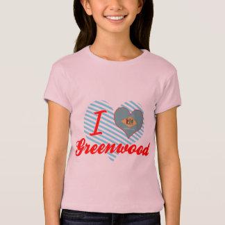 Camiseta Eu amo Greenwood, Delaware