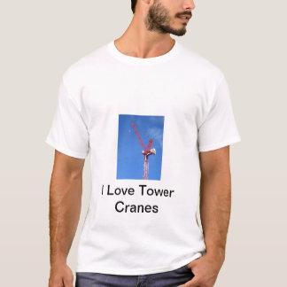 Camiseta Eu amo guindastes de torre