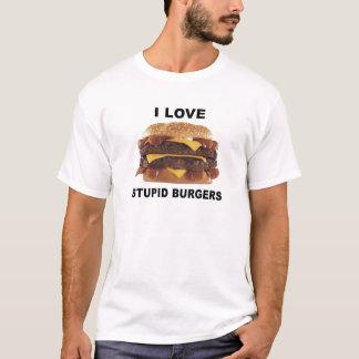 Camiseta EU AMO HAMBURGUERES ESTÚPIDOS - t-shirt