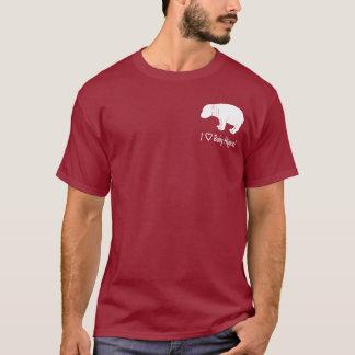 Camiseta Eu amo hipopótamos do bebê