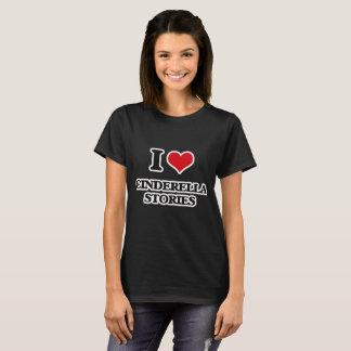 Camiseta Eu amo histórias de Cinderella