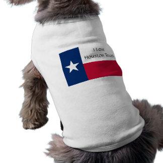 Camiseta Eu amo Houston Texas (o t-shirt do cão)