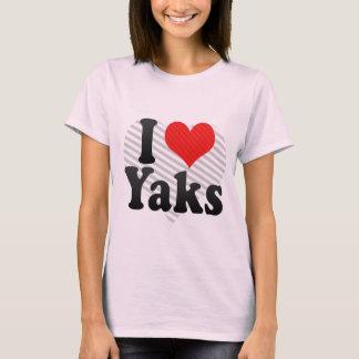 Camiseta Eu amo iaques