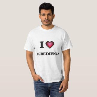 Camiseta Eu amo ingredientes