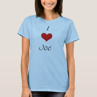 Camiseta Eu amo Joe