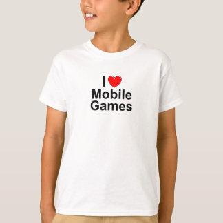 Camiseta Eu amo jogos do móbil do coração