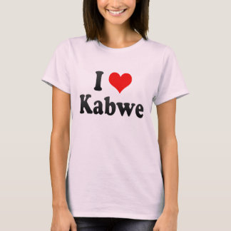 Camiseta Eu amo Kabwe, Zâmbia