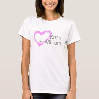 Camiseta Eu amo Kate + T-shirt de William |