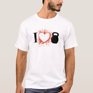 Camiseta Eu amo Kettlebells