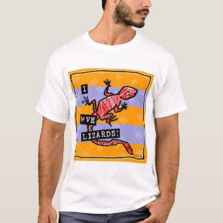 Camiseta Eu amo lagartos
