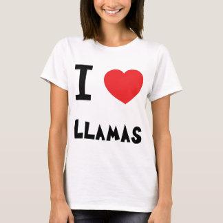 Camiseta Eu amo lamas